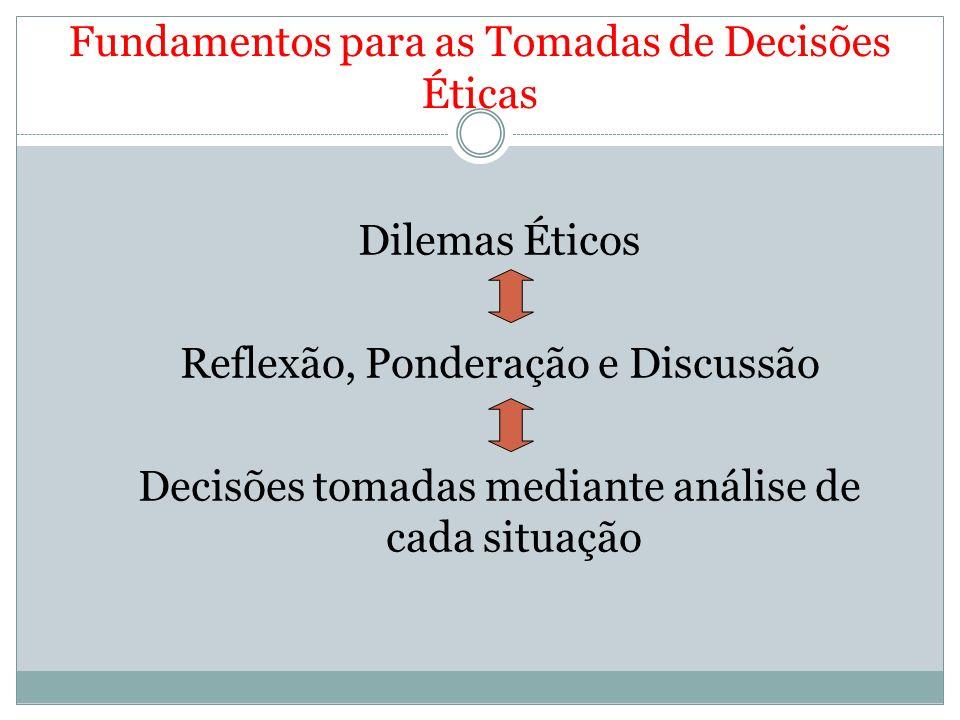 Fundamentos para as Tomadas de Decisões Éticas
