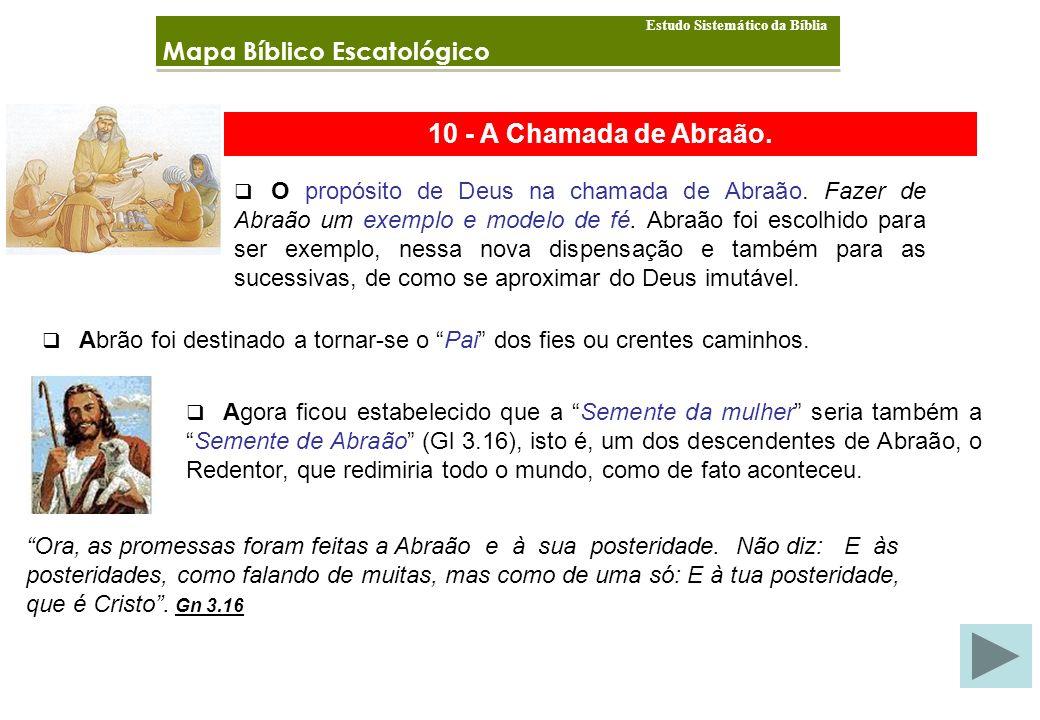 10 - A Chamada de Abraão. Mapa Bíblico Escatológico