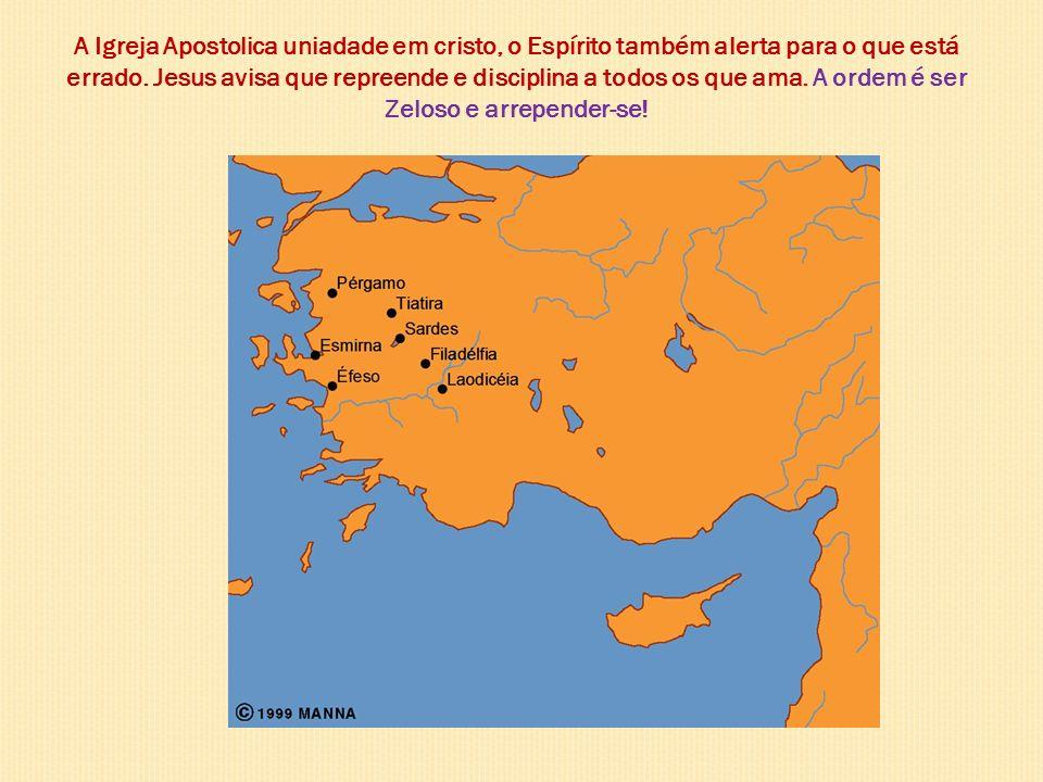 A Igreja Apostolica uniadade em cristo, o Espírito também alerta para o que está errado.