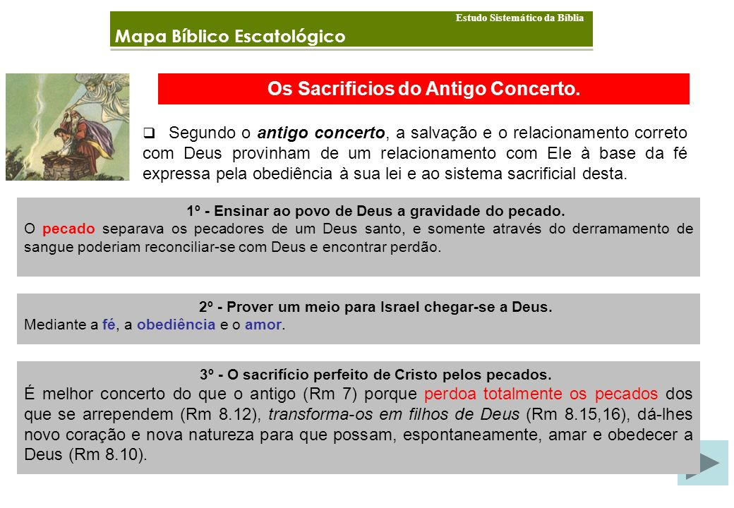 Os Sacrificios do Antigo Concerto.