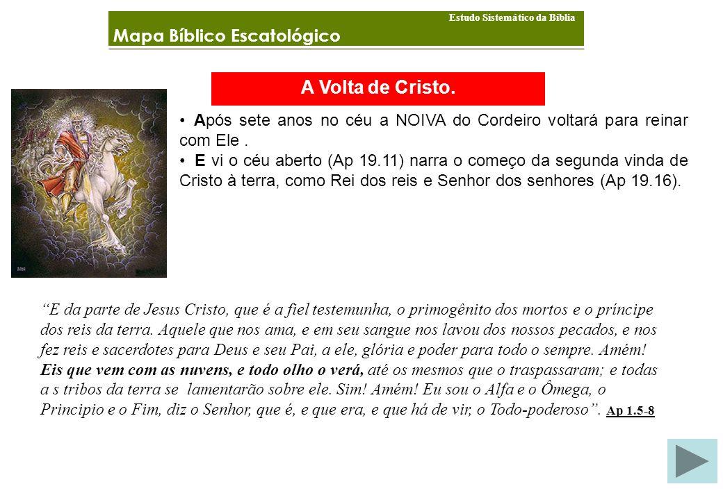 A Volta de Cristo. Mapa Bíblico Escatológico