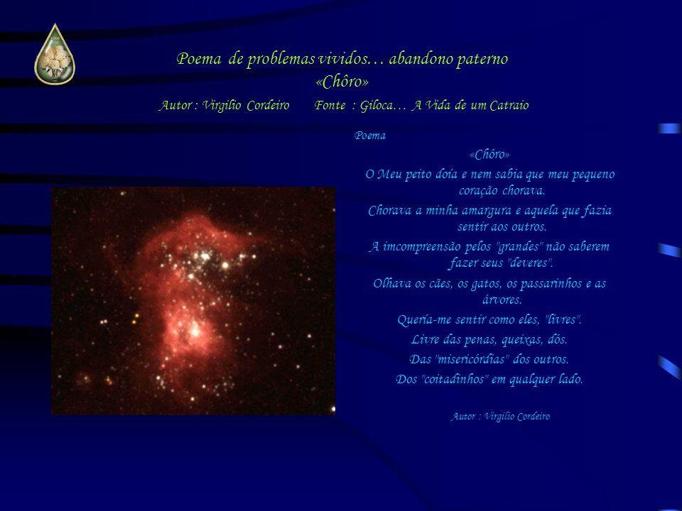 Poema de problemas vividos… abandono paterno «Chôro» Autor : Virgilio Cordeiro Fonte : Giloca… A Vida de um Catraio