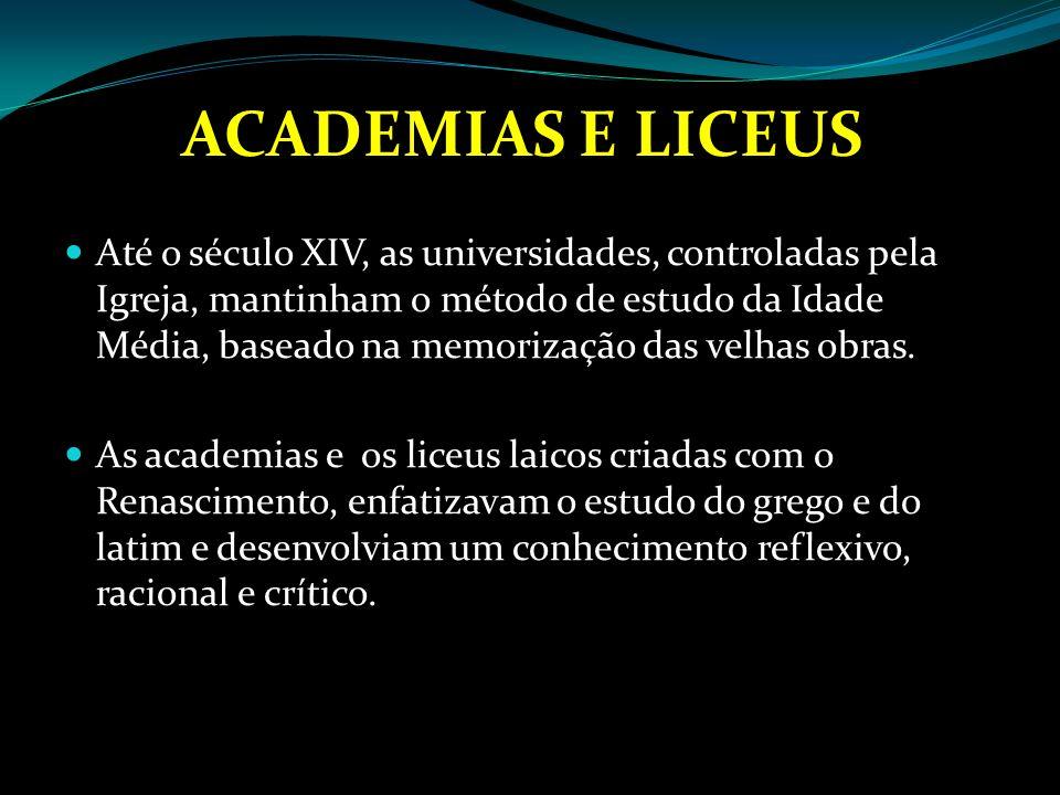 ACADEMIAS E LICEUS