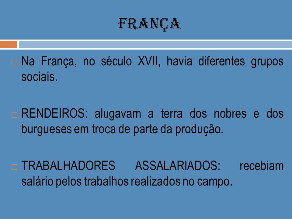 FRANÇA Na França, no século XVII, havia diferentes grupos sociais.