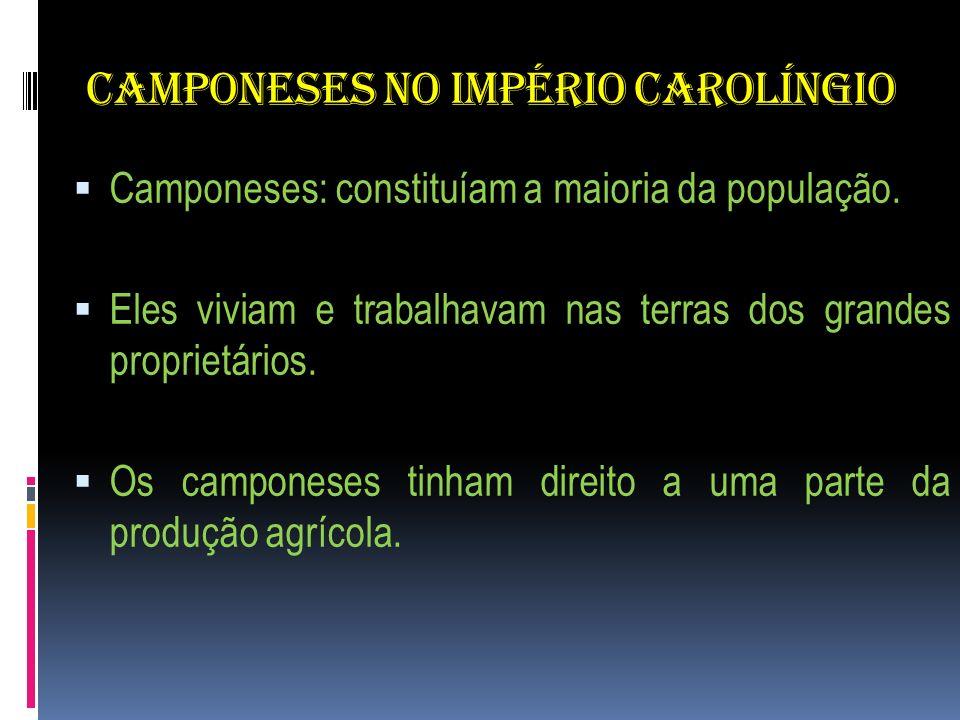 CAMPONESES NO IMPÉRIO CAROLÍNGIO