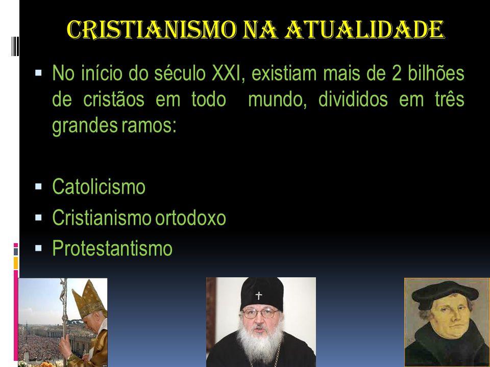 CRISTIANISMO NA ATUALIDADE