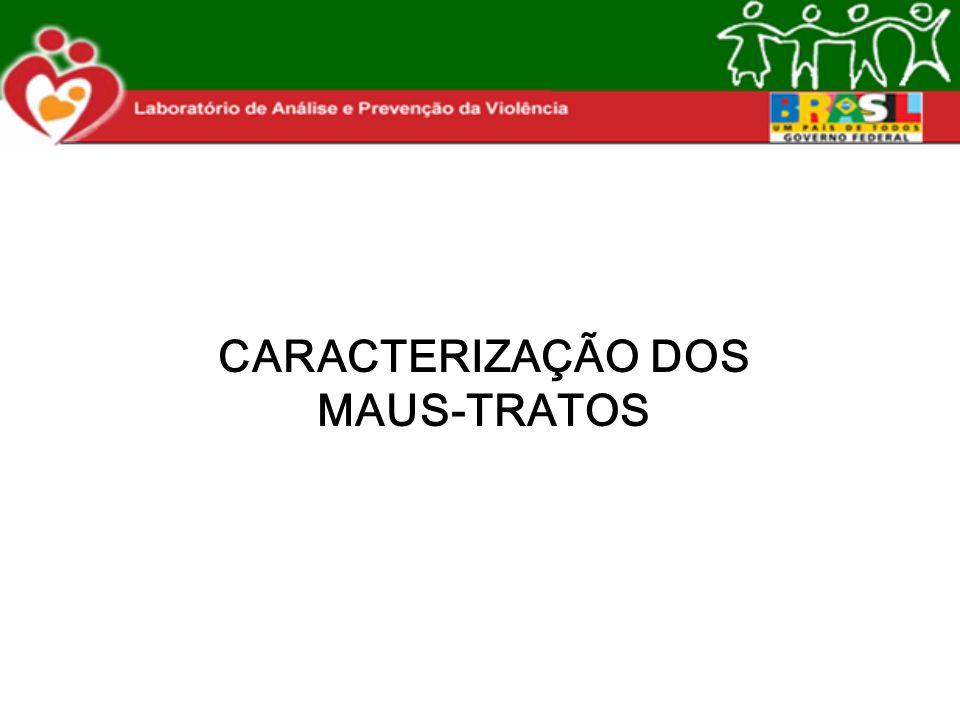 CARACTERIZAÇÃO DOS MAUS-TRATOS