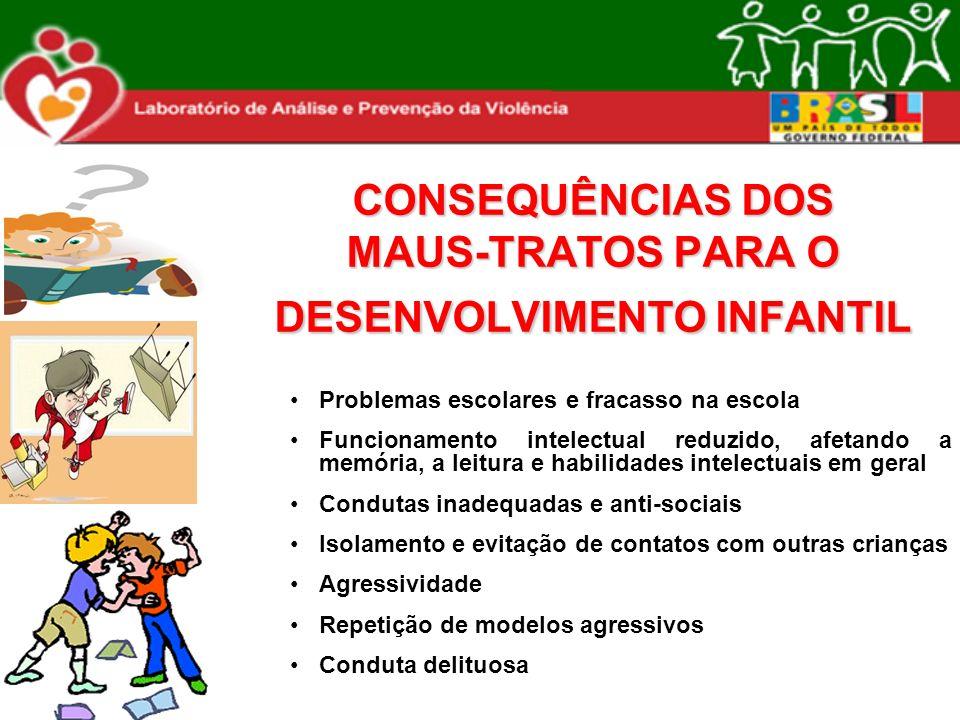 CONSEQUÊNCIAS DOS MAUS-TRATOS PARA O DESENVOLVIMENTO INFANTIL