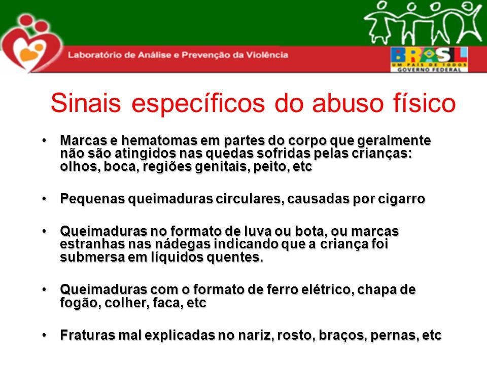 Sinais específicos do abuso físico
