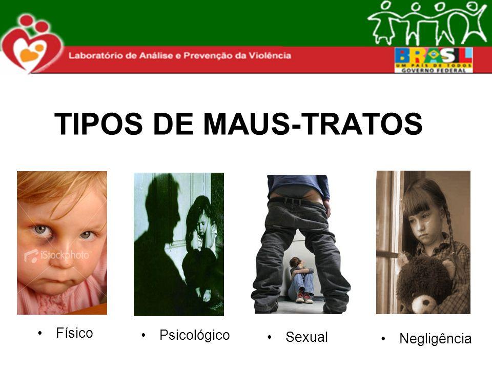 TIPOS DE MAUS-TRATOS Físico Psicológico Sexual Negligência