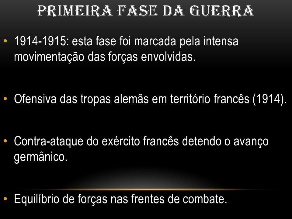 PRIMEIRA FASE DA GUERRA