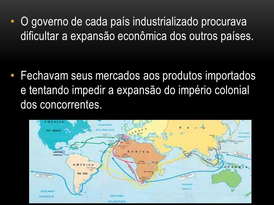 O governo de cada país industrializado procurava dificultar a expansão econômica dos outros países.