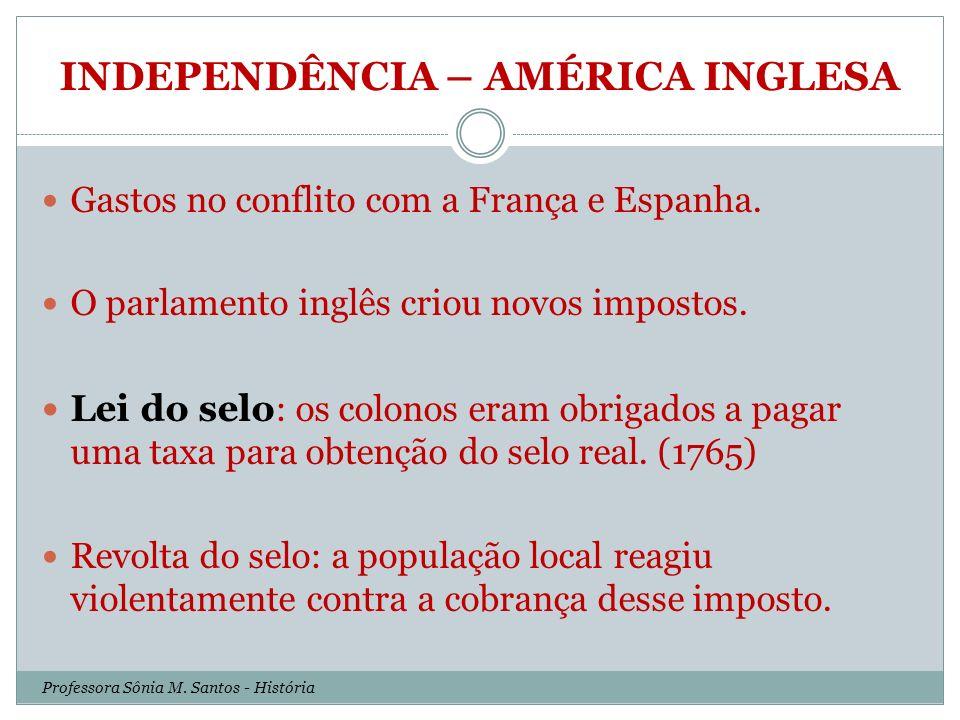 INDEPENDÊNCIA – AMÉRICA INGLESA