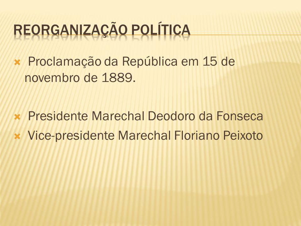 REORGANIZAÇÃO POLÍTICA