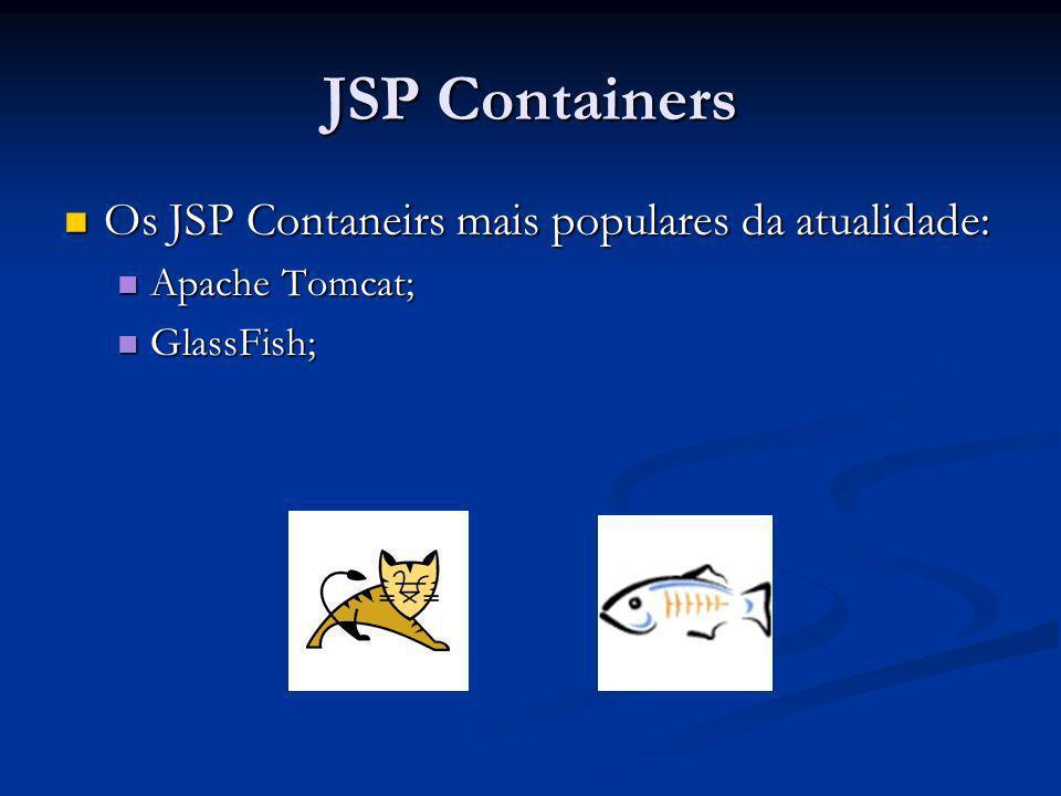 JSP Containers Os JSP Contaneirs mais populares da atualidade:
