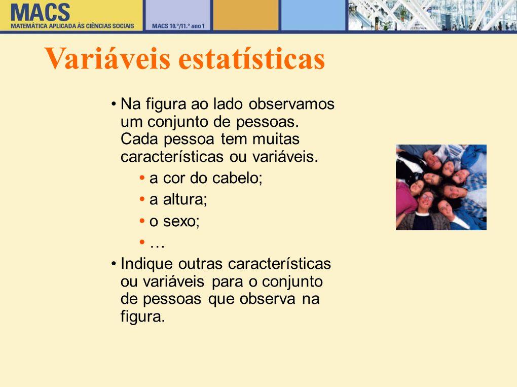 Variáveis estatísticas