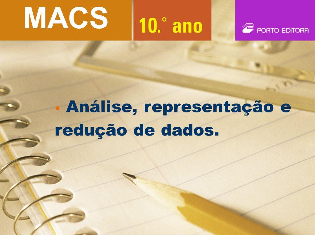 MACS Análise, representação e redução de dados.