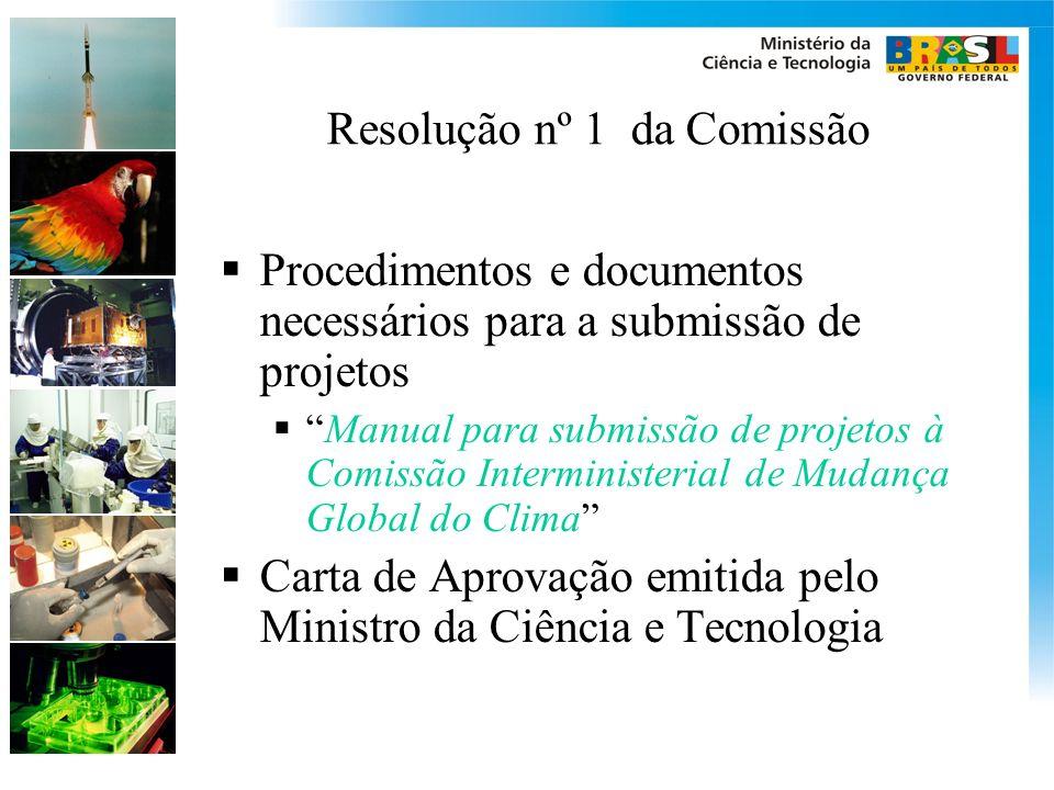 Resolução nº 1 da Comissão