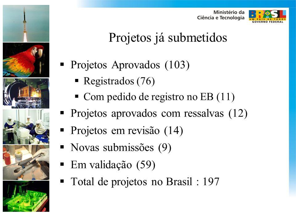 Projetos já submetidos