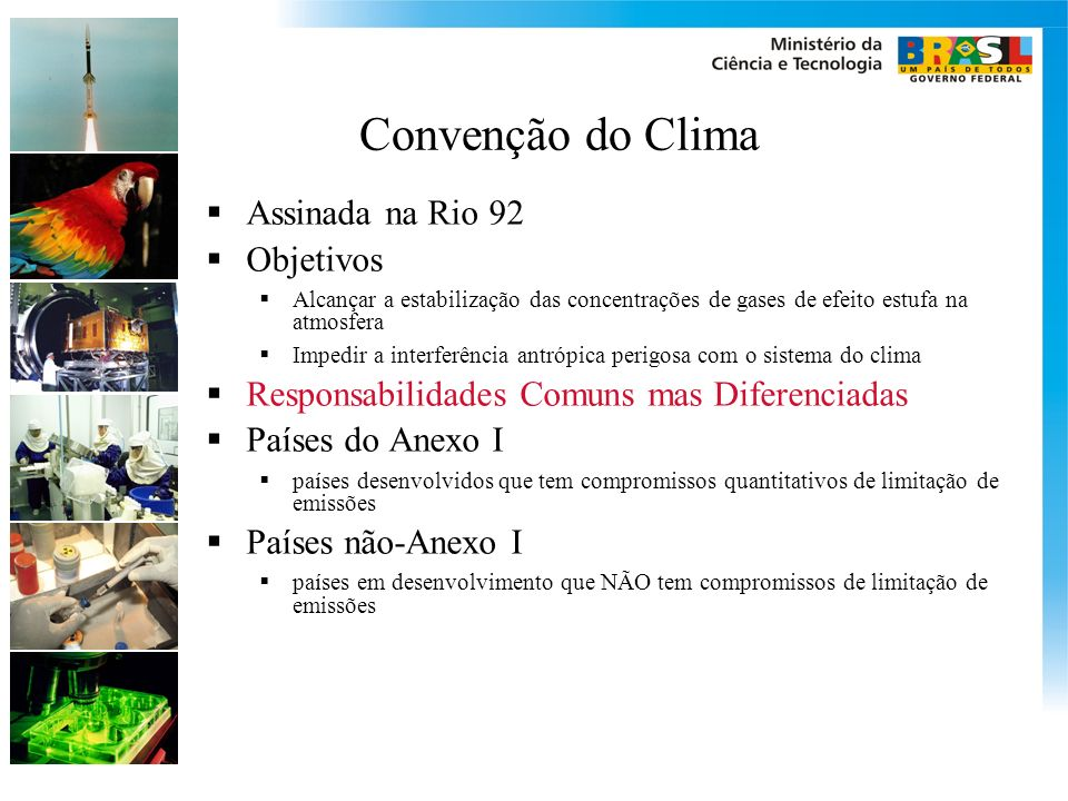 Convenção do Clima Assinada na Rio 92 Objetivos