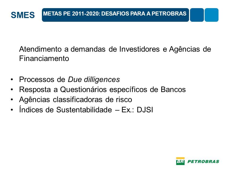 Atendimento a demandas de Investidores e Agências de Financiamento