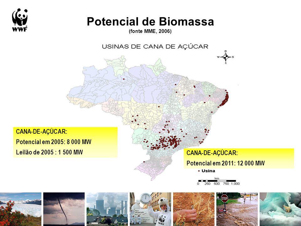 Potencial de Biomassa (fonte MME, 2006)