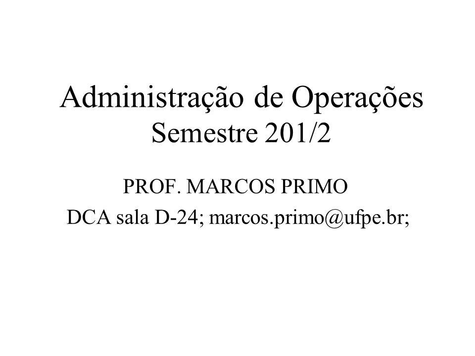 Administração de Operações Semestre 201/2