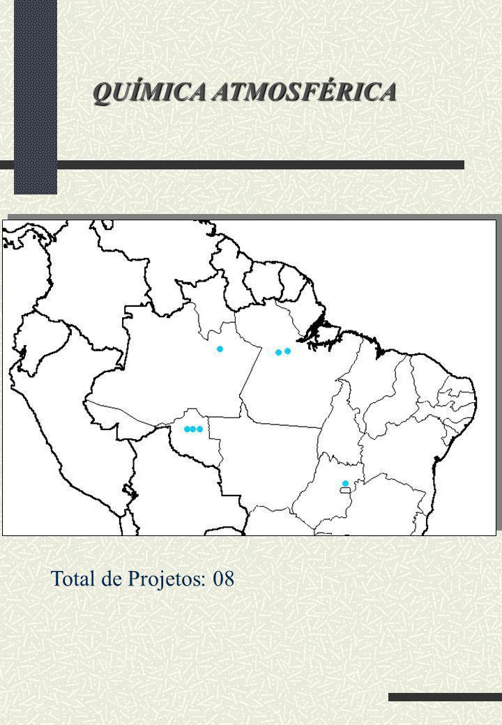 QUÍMICA ATMOSFÉRICA Total de Projetos: 08