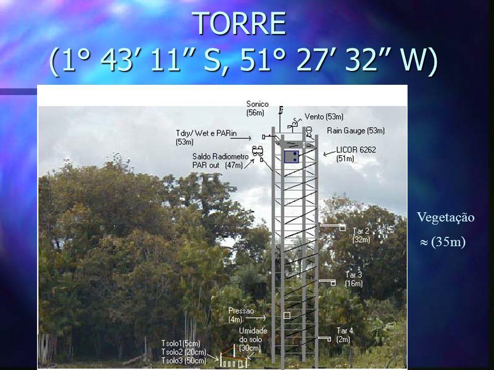 TORRE (1° 43' 11'' S, 51° 27' 32'' W) Vegetação  (35m)