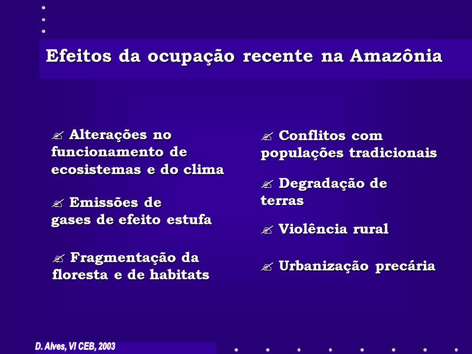 Efeitos da ocupação recente na Amazônia