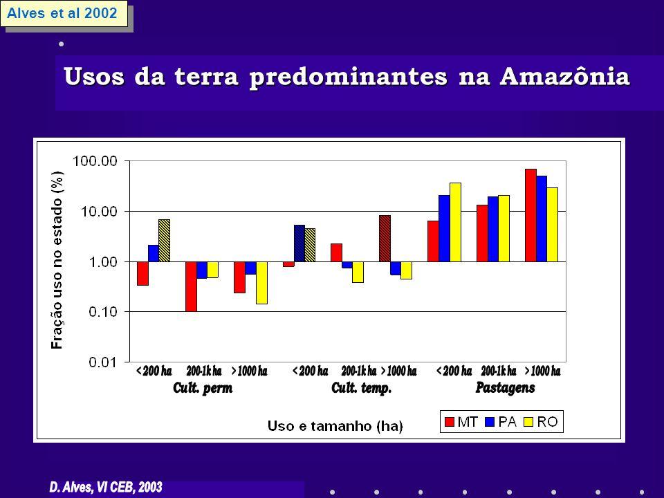Usos da terra predominantes na Amazônia