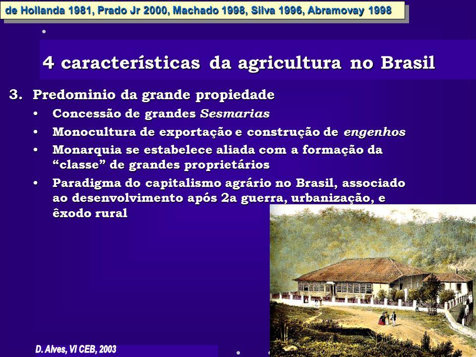 4 características da agricultura no Brasil