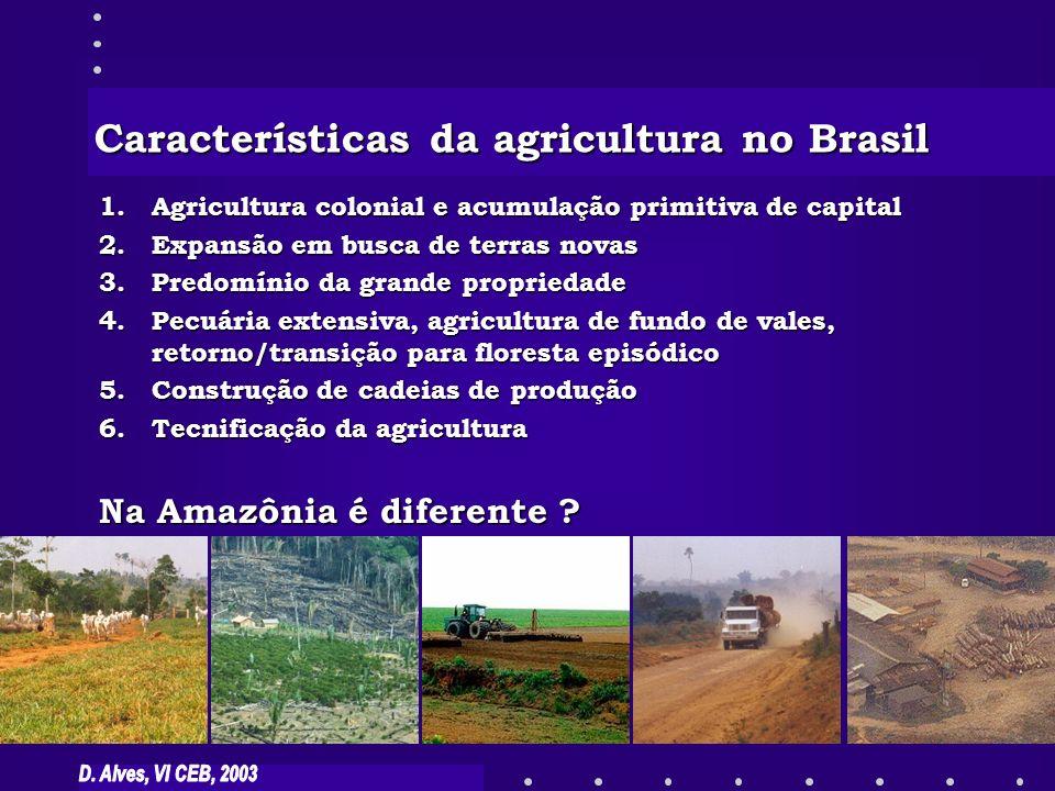 Características da agricultura no Brasil