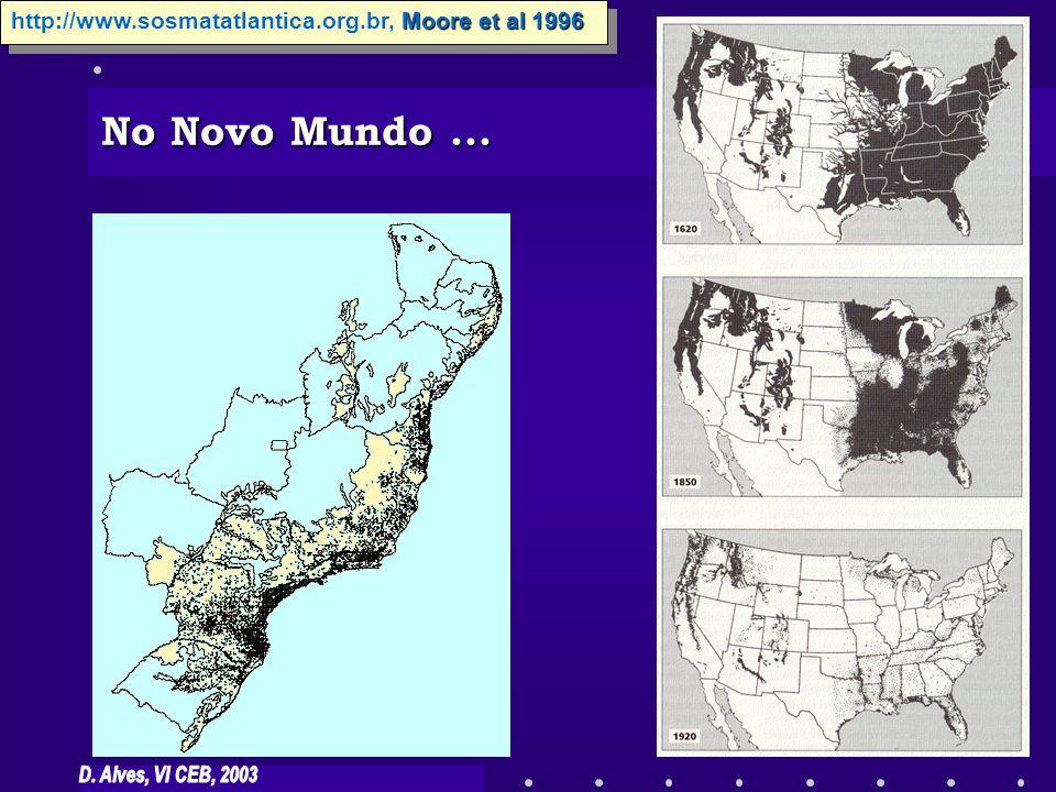No Novo Mundo ... http://www.sosmatatlantica.org.br, Moore et al 1996