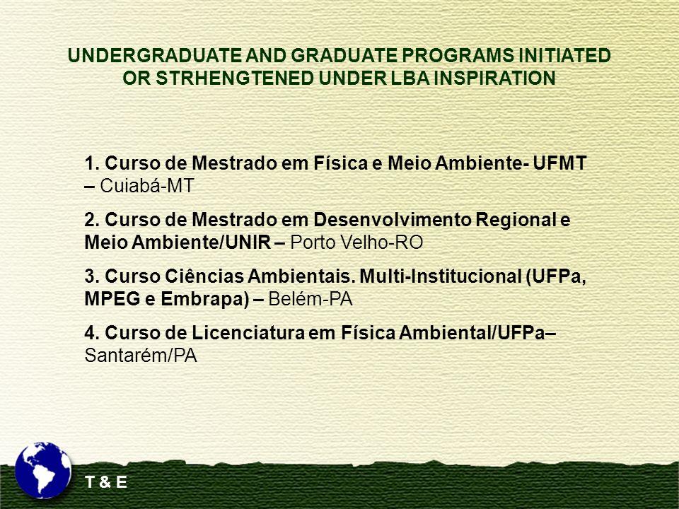 1. Curso de Mestrado em Física e Meio Ambiente- UFMT – Cuiabá-MT