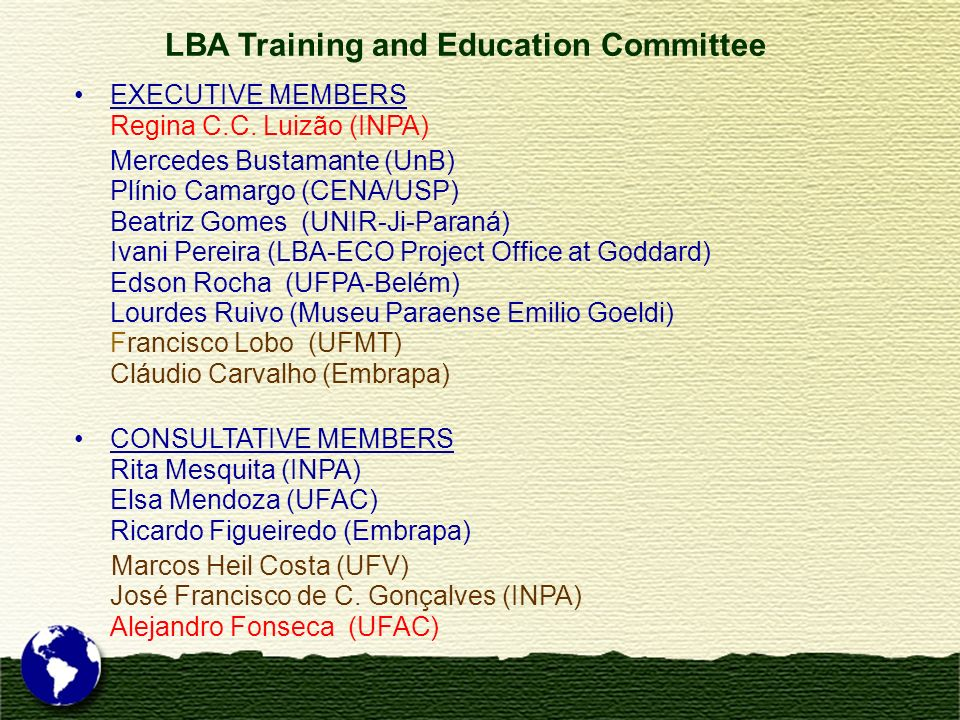 LBA Training and Education Committee