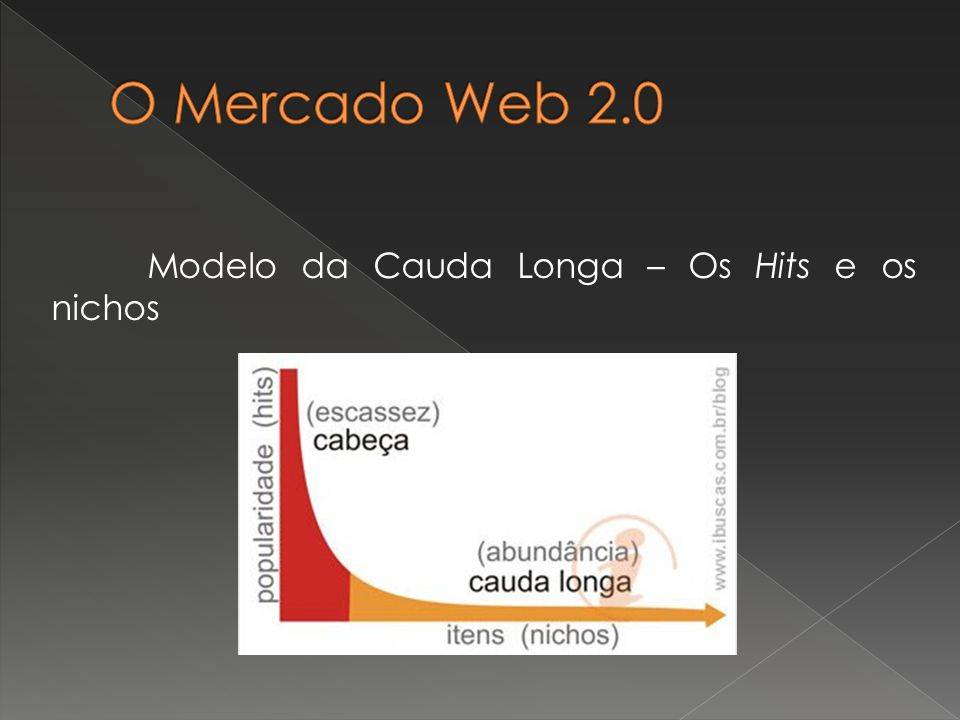 O Mercado Web 2.0 Modelo da Cauda Longa – Os Hits e os nichos