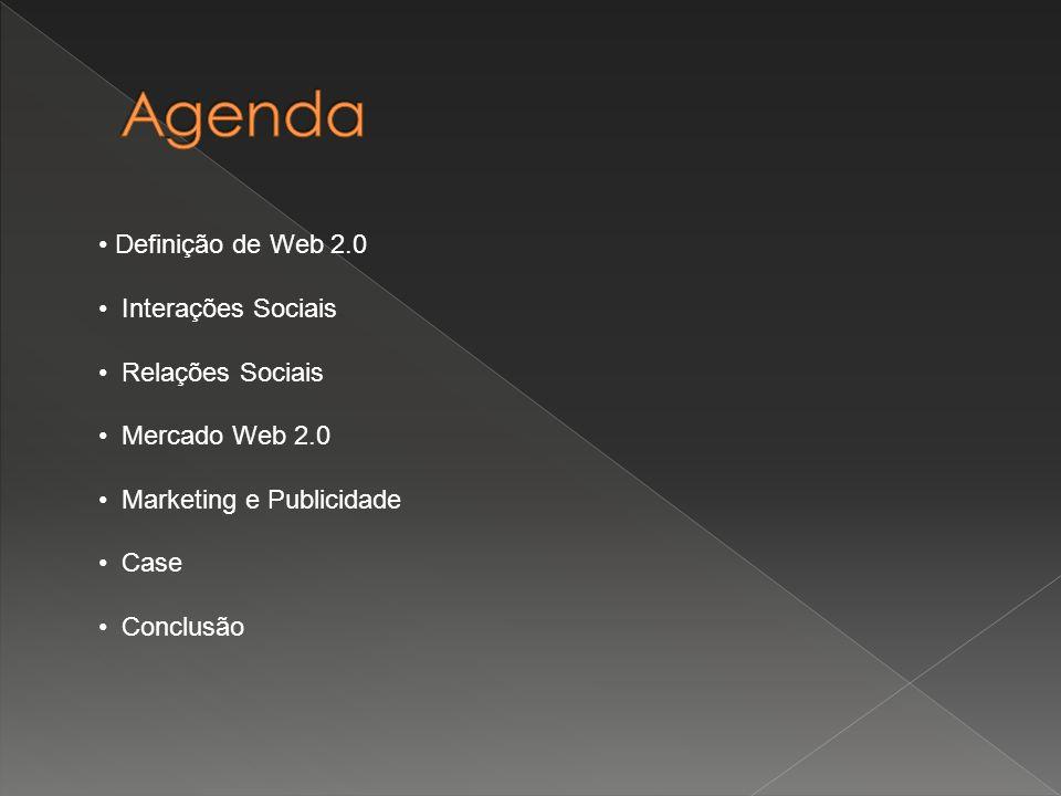 Agenda Definição de Web 2.0 Interações Sociais Relações Sociais