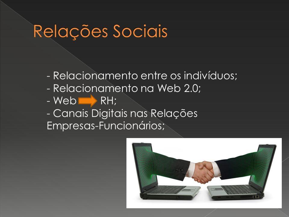 Relações Sociais - Relacionamento entre os indivíduos;