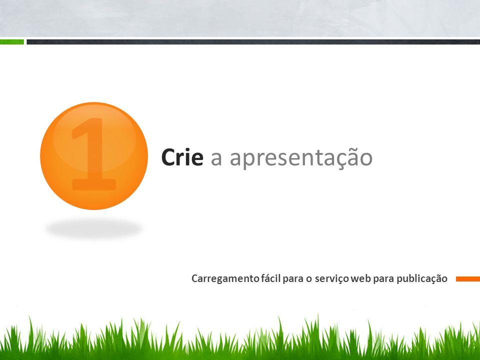 1 Crie a apresentação Carregamento fácil para o serviço web para publicação