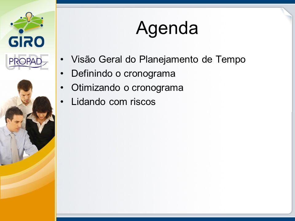 Agenda Visão Geral do Planejamento de Tempo Definindo o cronograma