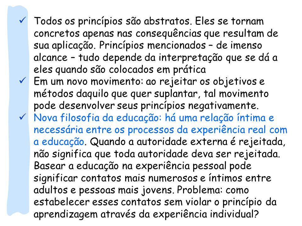 Todos os princípios são abstratos