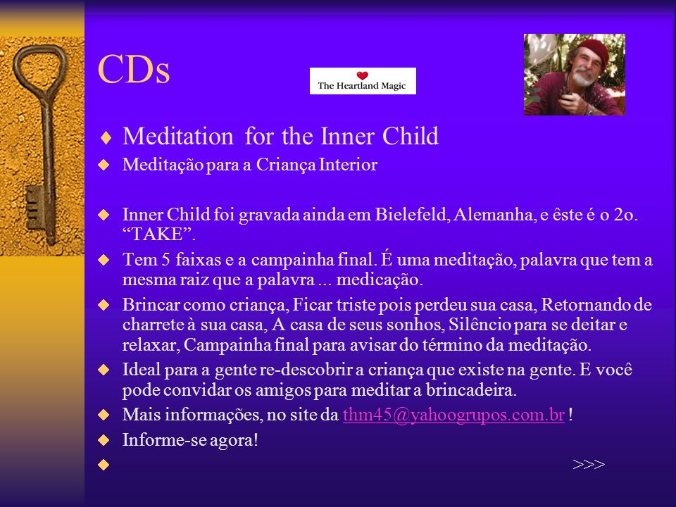 CDs Meditation for the Inner Child Meditação para a Criança Interior