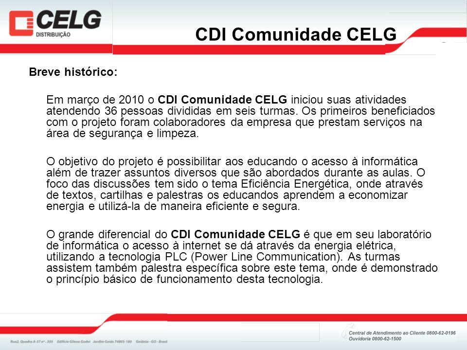 CDI Comunidade CELG Breve histórico: