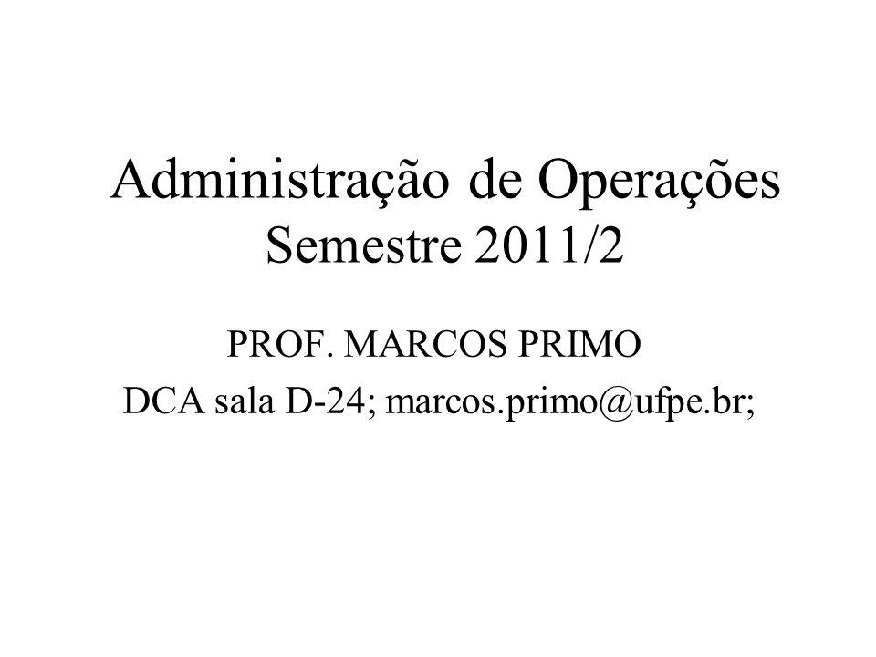 Administração de Operações Semestre 2011/2