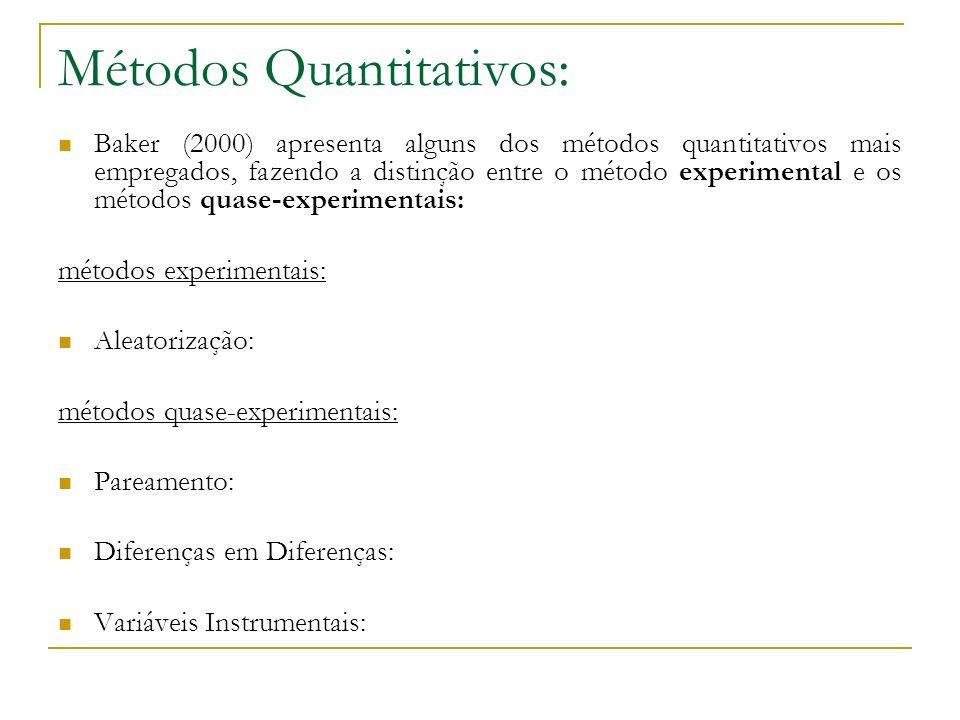 Métodos Quantitativos: