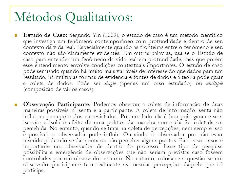 Métodos Qualitativos: