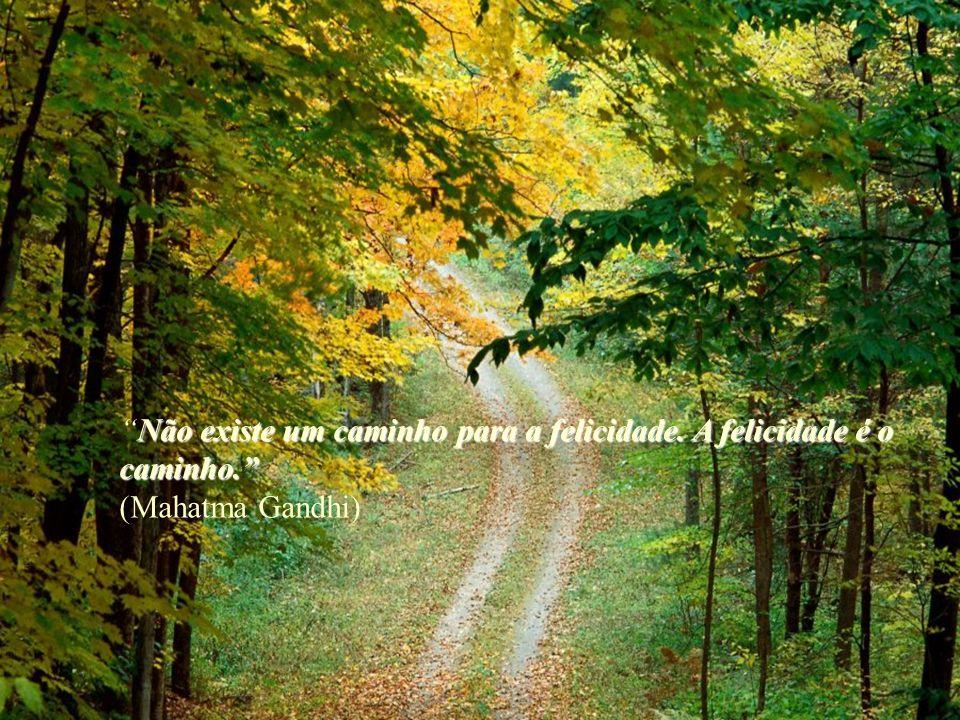 Não existe um caminho para a felicidade. A felicidade é o caminho