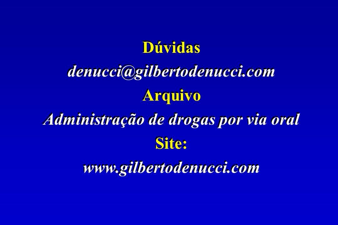 Administração de drogas por via oral