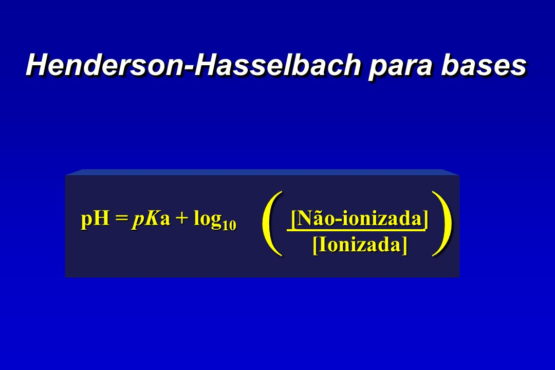 Henderson-Hasselbach para bases